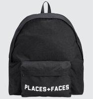Места лица рюкзаки рюкзаки рюкзак открытый спортивные женщины рюкзака пакеты p + f Бесплатные путешествия сумки багажники мужская жизнь сумка Satchel ноутбук и Shi WGDH