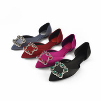 New Fashion Women Flats Fashion Luxury Crystals hollow shoes...