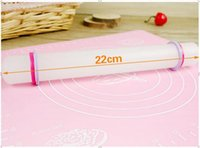 Wholesale- Hot White 22cm Non-stick Glide fondant rolling pin Fondant Cake Dough Roller Decorating Cake Roller crafts Baking Cooking Tool