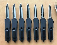 Black Small A07 D A auto knives Custom knife 440C two- tone b...