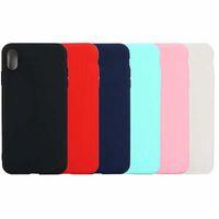 Slim Matte Soft TPU Cases For Iphone 13 12 MINI Pro 11 XR MAX X XS 8 7 6 Phone13 Samsung Galaxy S20 Ultra S10 Plus Note 20 10 Thin Plain Phone Cover Coque