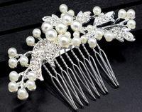 El más nuevo estilo de la venta caliente de la manera nupcial de la joyería de perlas de imitación de la novia del diamante peine del pelo dama de honor vestido de accesorios de la boda shuoshuo6588