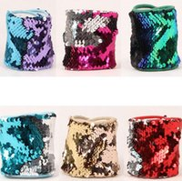 Mermaid Sequin Bracelet Wristband Cuff Sequins Bracelets Wom...