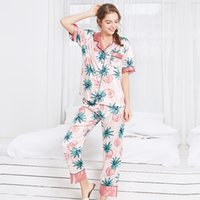 Новая модель Spinning Real Silk Pajamas Spring Long Sleeve Trousers Home Sleep Set