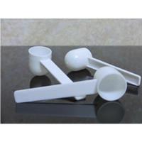 الشحن مجانا 100 قطع المهنية الأبيض البلاستيك 5 جرام 5 جرام المجارف ملاعق للأغذية الحليب مسحوق الغسيل قياس الملاعق