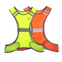 Freies verschiffen Hohe Sichtbarkeit Reflektierende Warnweste Orange Gelb Fluoreszierende Sicherheitskleidung Gear Supplies für Nachtarbeit Laufen Reiten