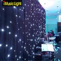 166 بوصة × 316 بوصة أحداث خلفية LED الستار المضاء الستار القماش الأسود + المصابيح البيضاء لحضور حفل زفاف الديكور مع شريط ، ديسكو ، فندق الخ