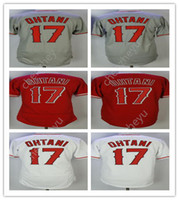 men' s New Angeles 17# Shohei Ohtani New Player Red Whit...