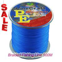 PE flätat fiske linje multifilament 500m 4 strängar sladd Karpa Fiske linjer för saltvatten 8LB 10LB 20LB 30LB 40LB 65LB 80 lb