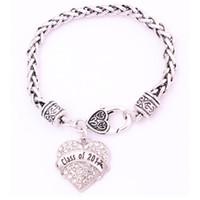Il buon ricordo del braccialetto del cuore delle donne calde di vendita sceglie la classe in lega di zinco scritta in lega di zinco del grano di modo 2017 Dropshipping