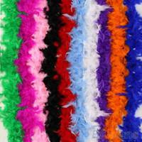 Vendita calda !!!!!! 10PCS / Set Multi-color Boa di piume di gallina Night Party Fancy Dress Party Fluffy Craft Costume da sposa 2M Scegli
