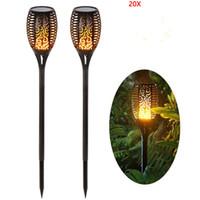 Decoração Lâmpadas Dança LED Solar chama bruxuleante Lawn Lamp LED Torch Light Luzes Chama Waterproof Garden Outdoor Landscape luz quintal