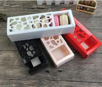 معكرون حزمة جميلة متعددة الأغراض جوفاء فقرة قصيرة معكرون مربع المنزل الخبز بوتيك التعبئة والتغليف مربع 4 ألوان.