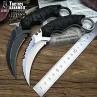 LCM66 Táticas karambit garra de escorpião faca acampamento ao ar livre selva sobrevivência batalha lâmina Fixa facas de caça ferramenta de auto defesa D2 aço blad