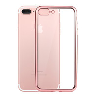 Clear Case Ultra thin Plating Soft TPU Defender Electroplati...