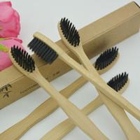 Cepillo de dientes de bambú natural Suave libre de BPA Cerdas de nailon Cepillos de dientes desechables Cepillo de papel desechable caja de papel empaquetado cy