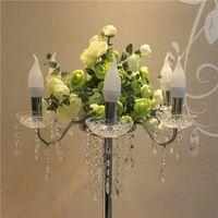 Akrilik düğün yol kurşun kristal düğün centerpiece olay parti çiçek raf ev dekorasyon