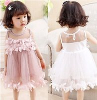 Pageant Toddler Kids Girls Pricness Bridesmaid Tulle Petal F...