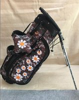 New Model Embroidered Flowers Light Weight Golf Stand Bag + ...