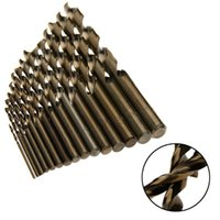 15pcs peu de foret de cobalt pour le travail en bois en métal M35 HSS Co acier tige droite 1.5-10mm foret hélicoïdal outils électriques Mayitr
