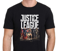Fashion Logo Printing T Shirts Men' s Short Justice Leag...
