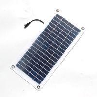 BUHESHUI 18 V 12 V 10 w Célula Solar Transparente Semi-flexível Policristalino DIY painel Solar Módulo Conector Ao Ar Livre DC 12 V carregador