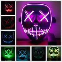 Epacket LED Light Mask Up Funny Mask from The Purge Election...