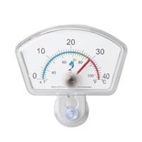Dhl / fedex 200 шт. / лот Погружной овальной формы циферблатный указатель термометр с присоской для аквариума Fish Tank