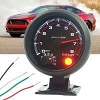 Universal 12V 3.75 '' Coche Auto Tacho Rev contador de medidor de tacómetro W / Red LED RPM Luz