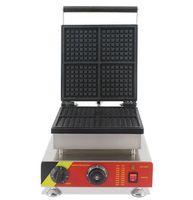 Yeni stil paslanmaz çelik 4 dilimleri waffle makinesi / endüstriyel waffle makinesi / waffle makinesi / dikdörtgen waffle baker