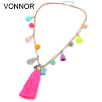 Necklace for Women Bohemian Accessories Velvet Ribbon with B...