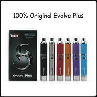 Yocan Evolve plus Kit 1100 mAh Versão Atualizada da Evolução Vaporizador Wax Pen Vaporizador Caneta de Quartzo Dupla Bobina E Cigs 6 cores Roxo Newst