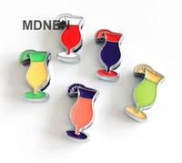 20pcs DIY accesorio de aleación de zinc de 8 mm de diámetro interior. 9 * 12MM bebidas Slide encantos de los granos DIY 8MM gato del perro del collar Muñequera