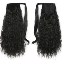 Corn lockiges Haar Strap-on Art Pferdeschwanz geflochten hiphop Spule Mais Medium Haar Menschenhaar empfangen kann gebügelt oder gefärbt werden 120g