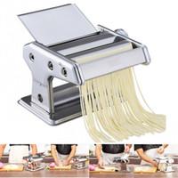 Edelstahl gewöhnlichen Haushalt Pasta Maker Maschine Manuelle Nudelhersteller Hand Betrieben Spaghetti Pasta Cutter Nudel Aufhänger