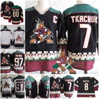 Custom Arizona Phoenix Coyotes Vintage Hockey Jerseys  97 Jeremy Roenick 7  Keith Tkachuk White Black 1998 CCM Retro Daniel Briere S-3XL 31abe6b31