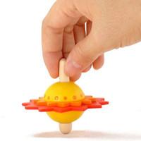 Flor De Madeira Spinning Top Crianças Desenvolvimento de Inteligência Tradicional Brinquedos Educativos Crianças Brinquedos Clássicos Presente de Natal