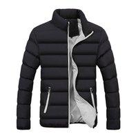 Мужская зима теплая с капюшоном молнии толстый твердый флис пальто хлопка-ватник куртки Моды большой размер 2018 новый мужской одежды