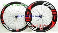 Ücretsiz Kargo !! F5R + F9R Karbon Jantlar 50mm 88mm Kattığı tübüler Yol Bisikleti Karbon Tekerlek 700C 23mm genişlik Yol Bisikleti