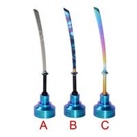 14mm 18mm titan nagel dabber vax dab carving verktyg färgstark kniv typ av dabber med titan carb cap diy