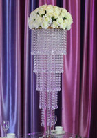 5 tiers K9 crystal transparent crystal Wedding Centerpiece 8...