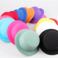 """شحن مجاني 5.2 """"(13 سنتيمتر) 12 اللون البسيطة أعلى القبعات fascinator ، الأطفال حزب القبعات ، ديي الشعر accesspries 12 أجزاء / وحدة MH008"""
