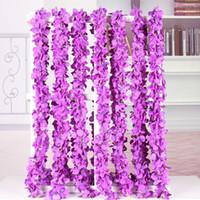 hortensia de seda decoración para el hogar flor flores artificiales fiesta de la vid boda deocratons guirnaldas de seda de flores artificiales corona de glicinas de seda