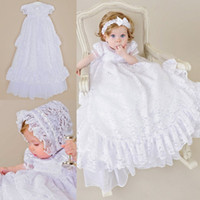 Adorable Two Pieces Christening Dresses For Baby Girls Short...
