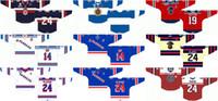 Индивидуальные 2001 02-Pres OHL мужские женские дети белый черный красный специальное мероприятие Stiched Kitchener рейнджеры логотипы Онтарио хоккейная лига трикотажные изделия