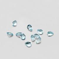 20pcs Armut 3 * 5mm 4 * 6mm 5 * 7 mm Yüksek Kalite Göz Temizle İyi Parlak Cut% 100 Doğal Gök Mavisi Topaz Loose Gemstones için Altın Gümüş Takı