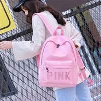 Pink mermaid Sequins Backpack love pink PU leather Laptop Ca...