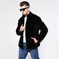 Mingjiebihuo новая мода мужчины искусственный мех куртка осень и зима корейский мужчины толстые плюс размер удобные теплые толстые красивый куртка