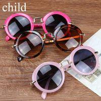 Moda Rodada Bonito Crianças Óculos De Sol Da Marca Meninos óculos de Sol Do Bebê Do Vintage crianças óculos Presente Oculos De Sol Ga