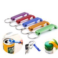 Tragbare 4 in 1 Flaschenöffner Schlüsselanhänger Schlüsselanhänger Schlüsselbund Metall Bier Bar Tool Claw Geschenk